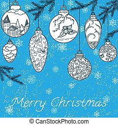 Christmas hand-drawn card