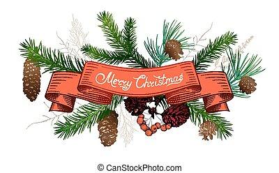 Christmas hand drawn decorations