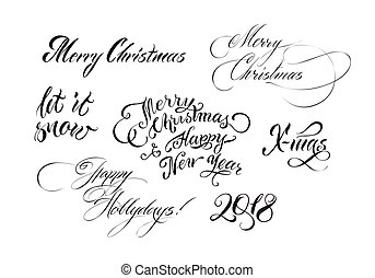 Christmas hand drawn lettering
