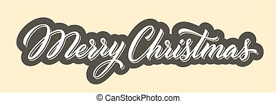 Christmas hand drawn lettering.