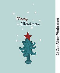 Christmas hand drawn set. Vector illustration.