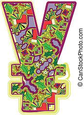 Christmas hand drawn symbol. Vector illustration