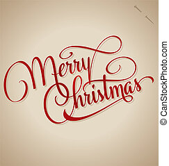 CHRISTMAS hand lettering (vector) - MERRY CHRISTMAS hand...
