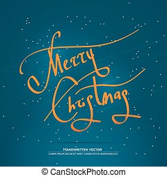 Christmas handwritten lettering