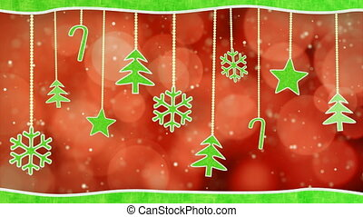 christmas hanging decorations loop