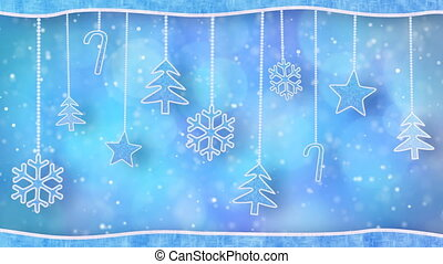 christmas hanging decorations loop