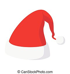 Christmas hat cartoon icon