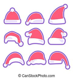 Christmas hat isolated on white background