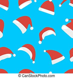 Christmas hat seamless pattern isolated