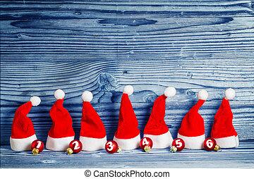 Christmas hats, Christmas tree balls