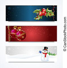 Christmas Header - Vector collection set of Christmas...