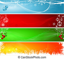 Christmas headers - Various decorative Christmas backgrounds