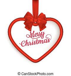 Christmas Heart frame. EPS 10