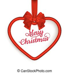 Christmas Heart frame. EPS 10