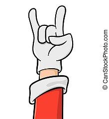 Christmas Heavy Metal Hand Sign