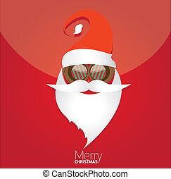 Christmas hipster poster for party or card. - Vector Hipster...