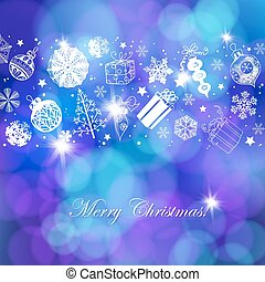 Christmas holiday background - Various Christmas related...