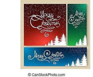 Christmas Holiday Background set
