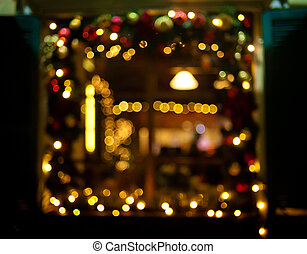 christmas holiday background with christmas lights