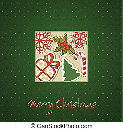 Christmas holiday background with C