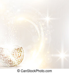 Christmas holiday background with mosaic candle lamp