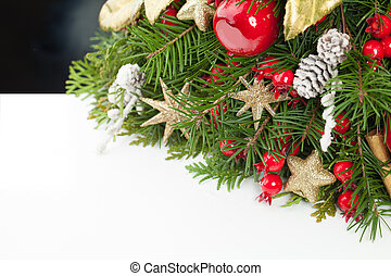 Christmas holiday background with white copy space