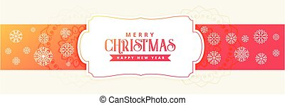 christmas holiday banner with snowflakes decoration