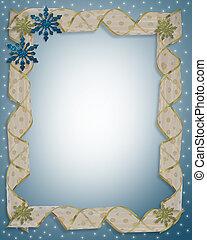 Christmas Holiday Border Snowflakes - Christmas design with ...