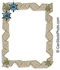 Christmas Holiday Border Snowflakes - Image and illustration...