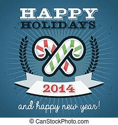 Christmas Holiday Candy Canes - Christmas holiday greeting ...