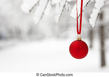 christmas - holiday concept, selective focus on metal part ...