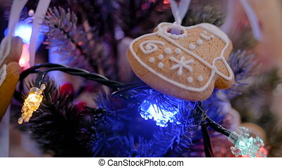 Christmas holiday decor with gingerbread cookie