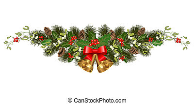 christmas holiday decorations - Christmas decorations with...