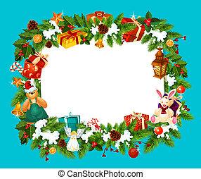 Christmas holiday greeting card frame