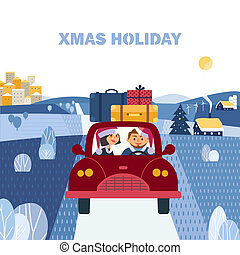 Christmas holiday journey