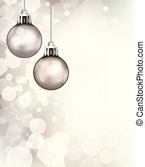 Christmas Holiday Ornaments Template Background Illustration
