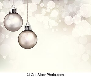 Christmas Holiday Ornaments Template Background