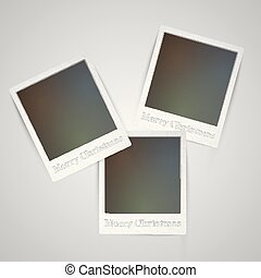 Christmas holiday photo frame, vector