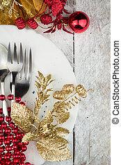 Christmas Holiday Table Setting