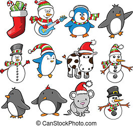 Christmas Holiday Vector Set