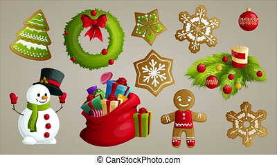 Christmas holiday video animation footage