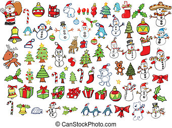 Christmas Holiday Winter Vector Set