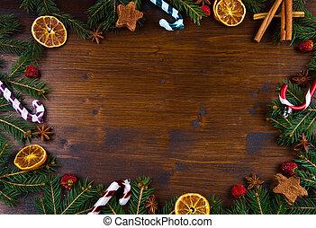 Christmas Holiday wood Background