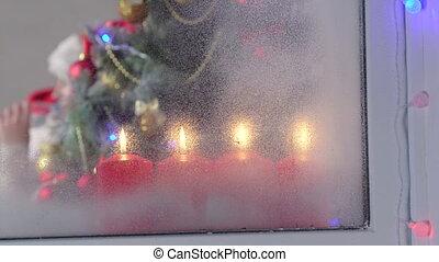 Christmas holidays at home closeup