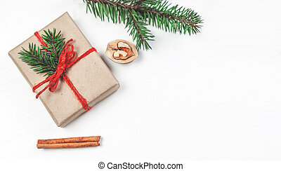 Christmas holidays background with festive decorations and ...