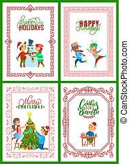 Christmas Holidays Preparation and Celebration