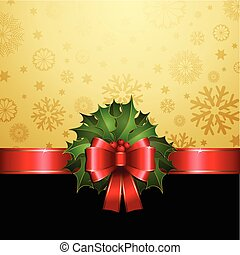 Christmas holly background
