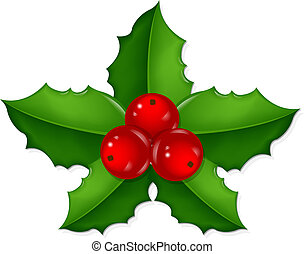 Christmas Holly Berry, With Gradient Mesh, Vector...