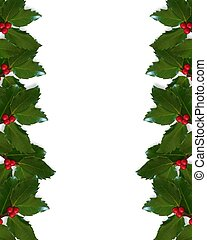 Christmas Holly border