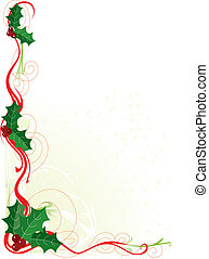 Christmas Holly Border - A border or frame with Christmas...